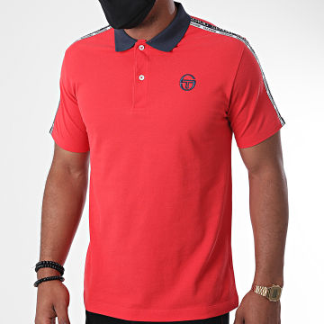 Sergio Tacchini - Polo Manches Courtes A Bandes Beso Rouge