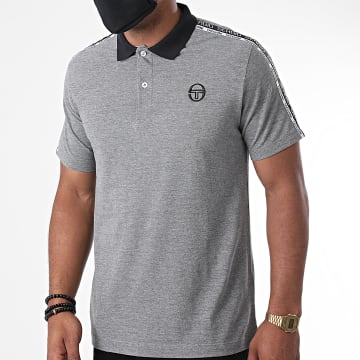 Sergio Tacchini - Polo Manches Courtes A Bandes Beso Gris Chiné