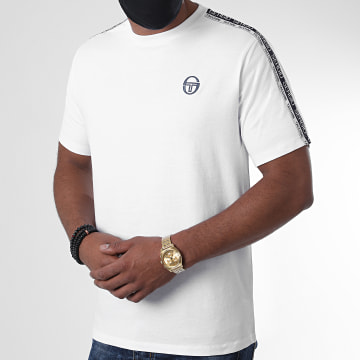 Sergio Tacchini - Tee Shirt A Bandes Barbados Blanc