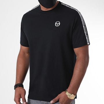 Sergio Tacchini - Tee Shirt A Bandes Barbados Noir