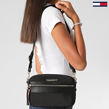 Tommy Hilfiger - Sac A Main Femme Nylon Crossover 8510 Noir