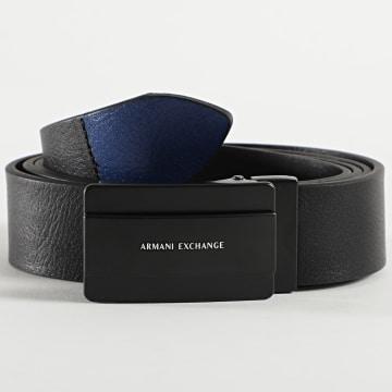 Armani Exchange - Ceinture En Cuir Plate Belt 951230-0A801 Noir