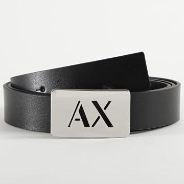 Armani Exchange - Ceinture En Cuir Plate Belt 951233-0A799 Noir