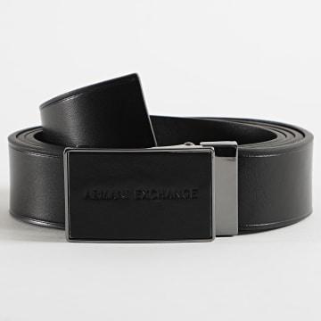 Armani Exchange - Ceinture En Cuir Plate Belt 95247-0A803 Noir