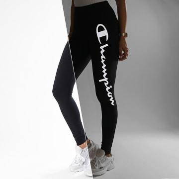 Champion - Legging Femme 113289 Noir Réfléchissant