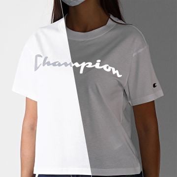 Champion - Tee Shirt Femme 113290 Blanc Réfléchissant