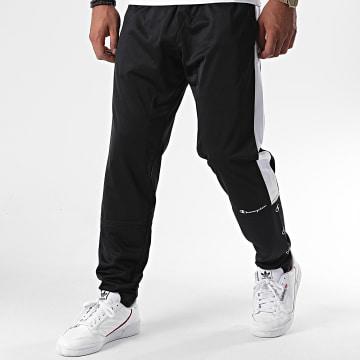 Champion - Pantalon Jogging A Bandes 214878 Noir Blanc