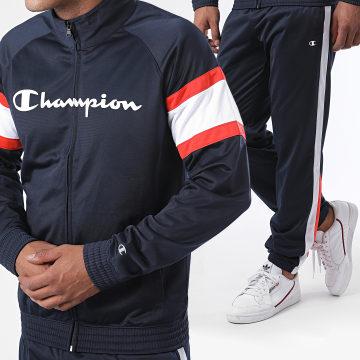 Champion - Ensemble De Survêtement Tricolore A Bandes 214950 Bleu Marine