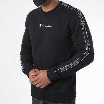 Champion - Sweat Crewneck A Bandes 215312 Noir