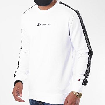 Champion - Sweat Crewneck A Bandes 215312 Blanc