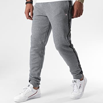 Champion - Pantalon Jogging A Bandes 215314 Gris Chiné