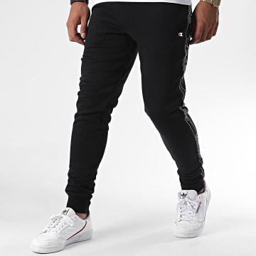 Champion - Pantalon Jogging A Bandes 215314 Noir