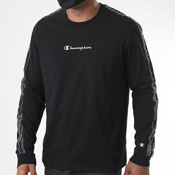 Champion - Tee Shirt Manches Longues A Bandes 215316 Noir