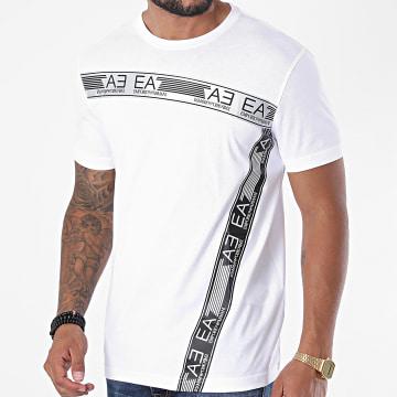 EA7 - Tee Shirt 6HPT10-PJ02Z Blanc Argenté