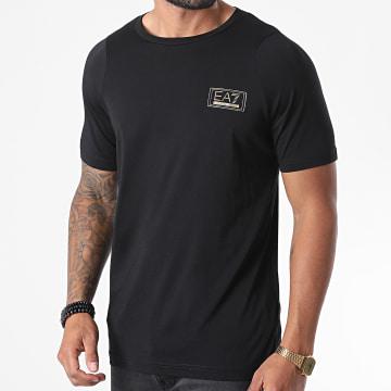 EA7 - Tee Shirt 6HPT45-PJM9Z Noir Doré