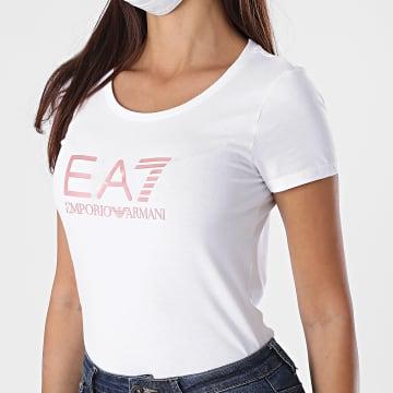 EA7 - Tee Shirt Slim Femme 8NTT63-TJ12Z Blanc