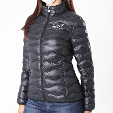 EA7 - Doudoune Femme 8NTB21-TN12Z Noir Argenté