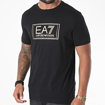 EA7 - Tee Shirt 6HPT51-PJM9Z Noir Doré