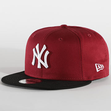 New Era - Casquette Snapback 9Fifty Colour Block 12122744 New York Yankees Bordeaux
