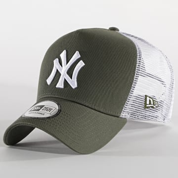 New Era - Casquette Trucker 9Forty Jersey 12523894 New York Yankees Vert Kaki