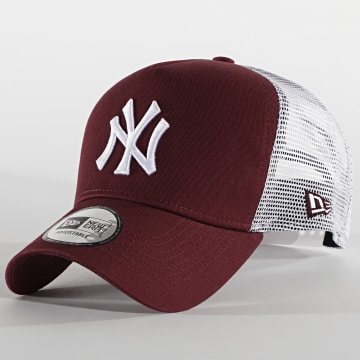 New Era - Casquette Trucker 9Forty Jersey 12523893 New York Yankees Bordeaux