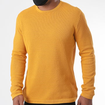 Only And Sons - Sweat Crewneck Panter 12 Jaune Moutarde