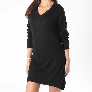 Only - Robe Pull Femme Manches Longues Zoe Noir