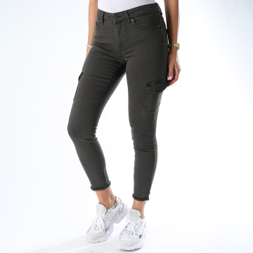 Only - Jean Skinny Femme Blush Life Gris Anthracite