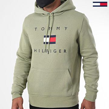 Tommy Hilfiger - Sweat Capuche Tommy Flag 4203 Vert Kaki