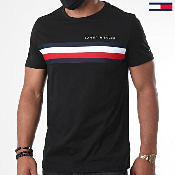 Tommy Hilfiger - Tee Shirt Global Stripe 4337 Noir