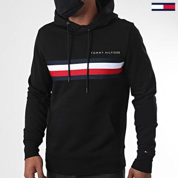 Tommy Hilfiger - Sweat Capuche Hilfiger Logo 4542 Noir