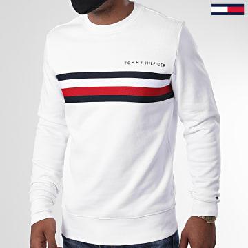 Tommy Hilfiger - Sweat Crewneck Logo 4758 Blanc