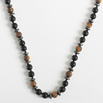 Black Needle - Collier BBC281 Noir Marron