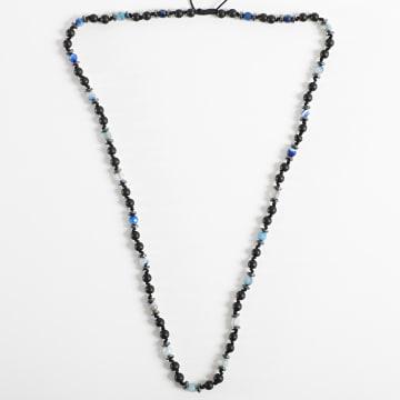 Black Needle - Collier BBC-284 Noir Bleu