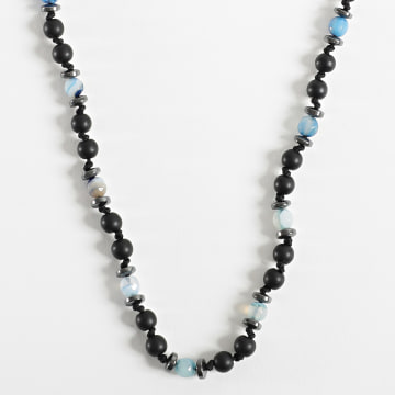 Black Needle - Collier BBC-284 Noir Bleu