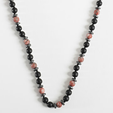 Black Needle - Collier BBC-293 Noir Rouge