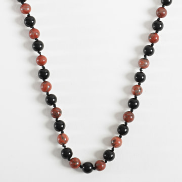 Black Needle - Collier BBC-288 Rouge Noir