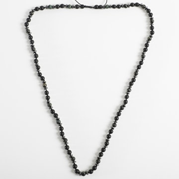 Black Needle - Collier BBC-283 Noir Vert Kaki