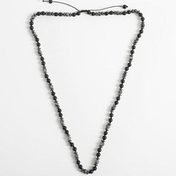 Black Needle - Collier BBC-290 Noir Gris