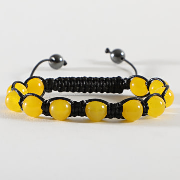 California Jewels - Bracelet Boule Noir Jaune
