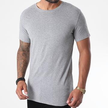 Diesel - Tee Shirt Soft Cotton 00CG24-0LAXP Gris Chiné