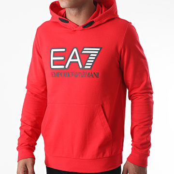 EA7 - Sweat Capuche 6HPM62-PJ05Z Rouge