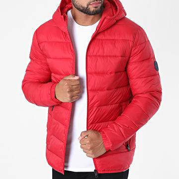 Jack And Jones - Doudoune Capuche Magic Rouge