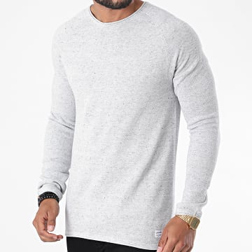 Jack And Jones - Sweat Crewneck Hill Gris Clair Chiné