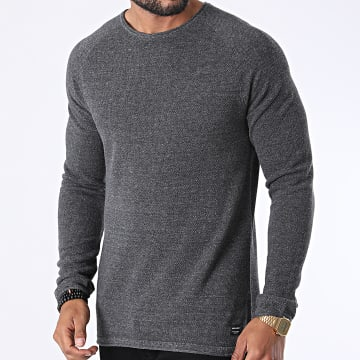 Jack And Jones - Sweat Crewneck Hill Gris Anthracite Chiné