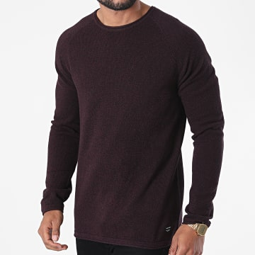 Jack And Jones - Pull Hill Knit Bordeaux Chiné