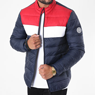 Jack And Jones - Doudoune Tricolore Magic Bleu Marine Rouge Blanc