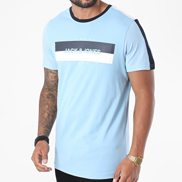 Jack And Jones - Tee Shirt A Bandes Diego Bleu Ciel