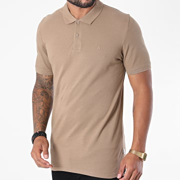 Jack And Jones - Polo Manches Courtes Basic Beige