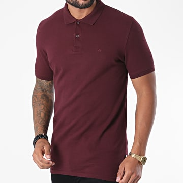 Jack And Jones - Polo Manches Courtes Basic Bordeaux